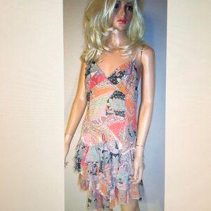 Victoria's Secret Paisley Sun Slip Dress 12 NEW!